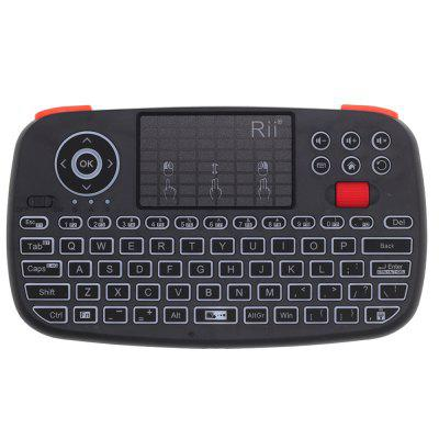 Rii RT726 Bluetooth 2.4Ghz Dual Modo Mini Teclado Sem Fio Air Mouse com Touchpad