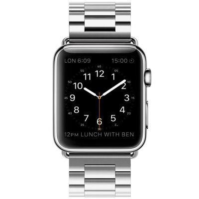 Stainless Steel Strap with Folding Steel Buckle Applicable to iWatch 1 / 2 / 3 Generation