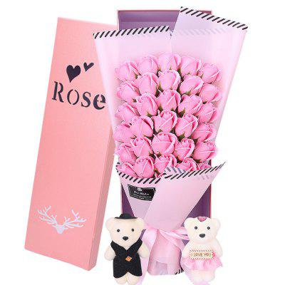 33 Rose Soap Bouquet Gift Box for Valentine's Day