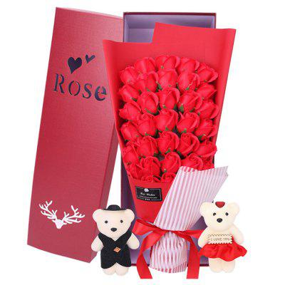 Refurbished 33 Rose Soap Bouquet Gift Box for Valentine's Day