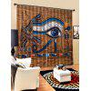 2PCS Ethnic Eagle Pattern Window Curtains - MULTI