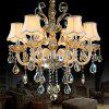 ZUNGE Z125 European Style 6-head Crystal Chandelier Light for Bedroom Living Room - CHAMPAGNE