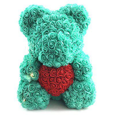 Valentine Day Gift Artificial Roses Bear Wedding Party Decoration
