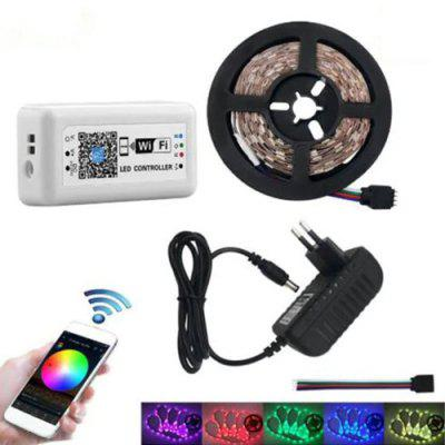 KWB WiFi Controller 5050 RGB LED Strip light 300leds neon lamp  Decor Tape diode ribbon DC 12V adapter