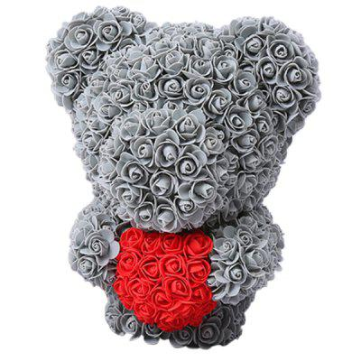 Stand Rose Bear 30 x 30 x 40cm Eternal Flower Soap PE Material