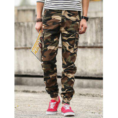Casual Loose Cargo Pants Trouser with Many Pockets for Men