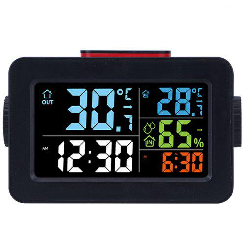 Multi-function Indoor and Outdoor Temperature and Humidity Color Screen Weather Forecast Alarm Clock
