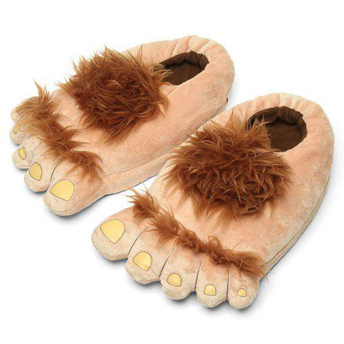 Gearbest Creative Animal Big Feet Cotton Slippers - Cinnamon