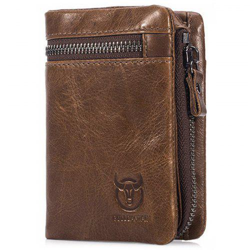 BULLCAPTAIN Men Trendy Leather Bifold Wallet