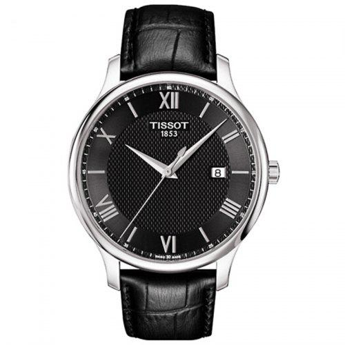 TISSOT Business Classic Quartz Watch with Leather Band for Men