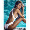 BA0372 Women Fashion Open Back One-piece Swimsuit - WHITE