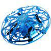 Hand Throwing Induction Four-axis Flying Saucer - BLUE