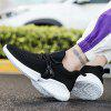 Flying Woven Casual Fashion  Men's Sneaker - BLACK