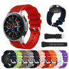 22 MM Silicone Armband Strap Watch Band voor Samsung Gear S3 Frontier / Classic - ZWART