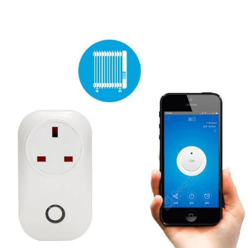 Smart WiFi Wireless Socket 10A 2200W Power Supply UK Plug for IOS / Android Phone Remote Control