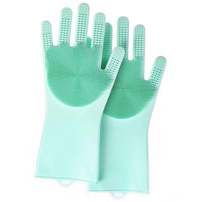 Home Kitchen Cleaning Brush Anti-skid Dishwashing Gloves 2pcs