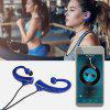 F2 Python Tail FM Bluetooth In-ear Sports Headphones - BLUE