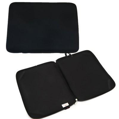 Computer Case With Four Corners With Elastic Full Zipper Black Laptop Case Bag