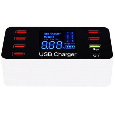 QC3.0 40W Intelligent Display Charger