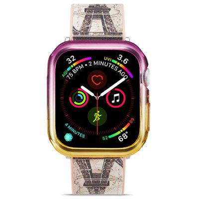 Hat - prince 2 In 1 Colorful TPU Half Phone Case + Transparent 3D Full Screen PET Curve for Apple Watch Series 4 40mm