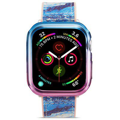Chapéu - príncipe 2 em 1 colorido meia tpu telefone case + transparente 3d full screen pet curve para apple watch series 4 40mm