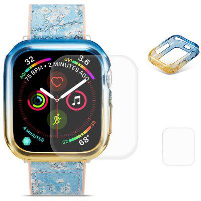Hat - prince 2 in 1 Colorful TPU Half Pack Phone Case + Transparent 3D Full Screen for Apple Watch Series 4 44mm
