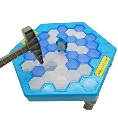 Ice Block Breaking Game Save Penguin Table Game Puzzle Toys Set