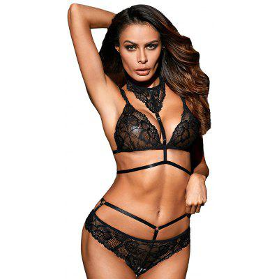 LC43035 Lace Choker Underwear Set