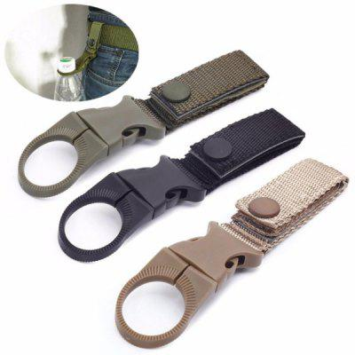 Outdoor Tactical Nylon Webbing Water Bottle Hang Buckle