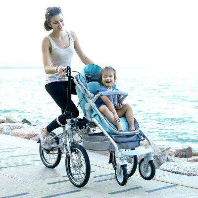 Alfawise Recreational Parent-child Folding Bicycle