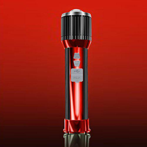 Gearbest Portable Multi-function Super-bright LED Flashlight for Outdoor - RED STANDARD MODEL ( 17.5CM / 6 - 8H )