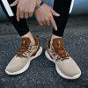 Outdoor Light Trainers Flying Woven Mesh Shoes for Men - GOLDENROD