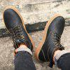 Male Outdoor Casual Tooling Boots - BLACK