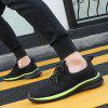 Low-cut Casual Flying Woven Men's Sneaker - GREEN YELLOW