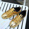 Waterproof Tide Breathable Black Casual Shoes - GOLD
