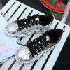 Waterproof Tide Breathable Black Casual Shoes - SILVER