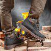 Large Size High Outdoor Men's Boots - BLACK