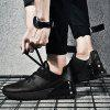 Casual Running Leather Men's Sneaker - BLACK