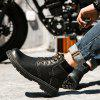 WX - 9088 Winter Trend Boots Men Leather Shoes - BLACK