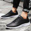 Leather Casual Running Men's Sneaker - BLACK