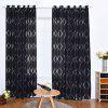 Creative Wave Bubble Cut Flower Curtain - BLACK