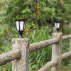 HC - 4DR4 Outdoor Waterproof Colorful Solar Light - BLACK