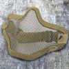 V1 Half Face Steel Wire Protective Mask - CAMEL BROWN