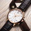 TISSOT Classic Stylish Quartz Watch with Leather Band for Men - ROSE GOLD