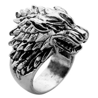 Stainless Steel Wolf Men Ring