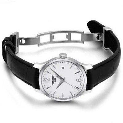 TISSOT Women Stylish Quartz Watch with Leather Band