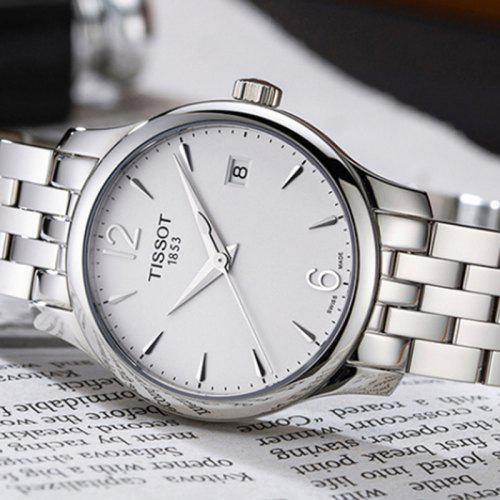 TISSOT Fashion Business Quartz Watch with Steel Band for Women