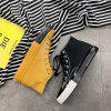 YHa66 Solid Color High Canvas Personalized Fashion Shoes - YELLOW