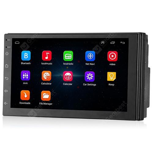 8802 Smart Practical Car DVD Player with Bluetooth - Black