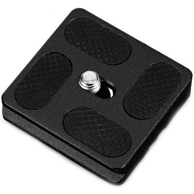 WEIHE PU40 Aluminum PTZ Camera 40mm Quick Plate Black (Black)